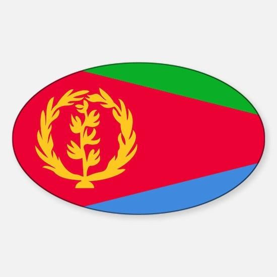 Flag of eritrea sticker oval