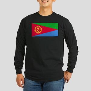 Flag of Eritrea Long Sleeve Dark T-Shirt