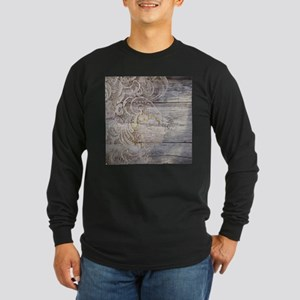 barn wood lace western country Long Sleeve T-Shirt