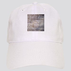 barn wood lace western country Cap