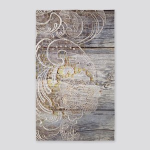 barn wood lace western country Area Rug
