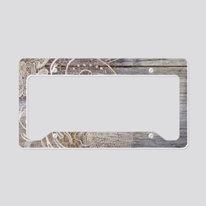 barn wood lace western countr License Plate Holder
