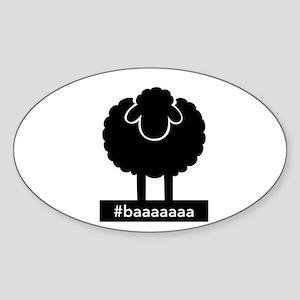 #baaaaaa Black Sheep Sticker