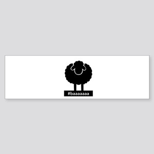 #baaaaaa Black Sheep Bumper Sticker