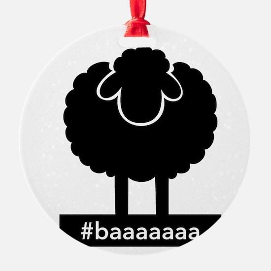 #baaaaaa Black Sheep Ornament