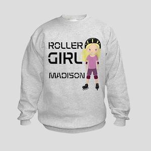 Rollergirl Blonde Kids Sweatshirt