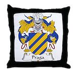 Praga Family Crest  Throw Pillow