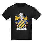 Praga Family Crest  Kids Dark T-Shirt