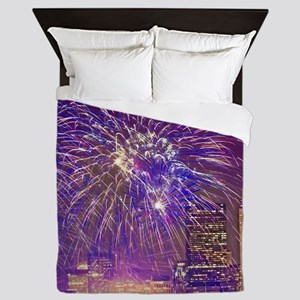 Boston, MA July 4th Fireworks Queen Duvet