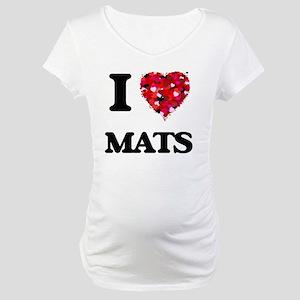 I Love Mats Maternity T-Shirt