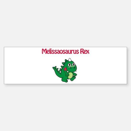 Melissaosaurus Rex Bumper Bumper Bumper Sticker