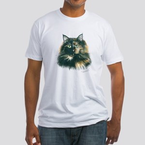 Tortoiseshell Cat Fitted T-Shirt