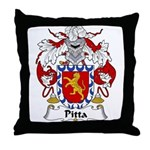 Pitta Family Crest Throw Pillow