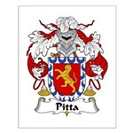 Pitta Family Crest Small Poster