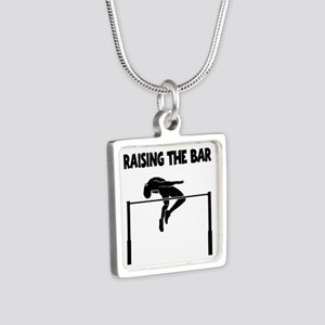 HIGH JUMP Silver Square Necklace