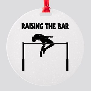 HIGH JUMP Round Ornament