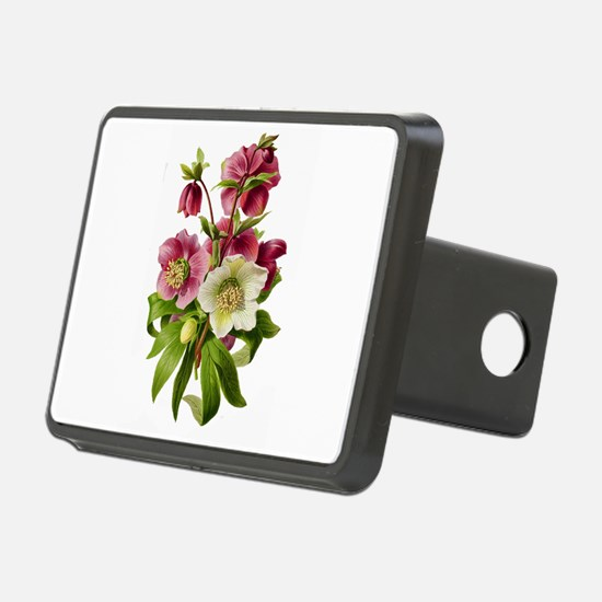 Purple and White Hellebore Hitch Cover