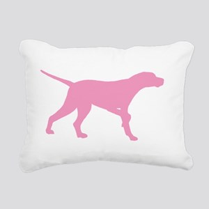 Pink Pointer Dog Rectangular Canvas Pillow