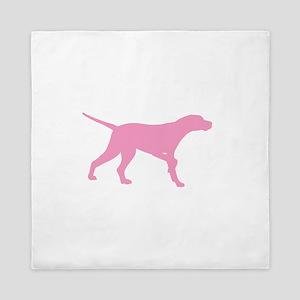 Pink Pointer Dog Queen Duvet