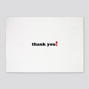 Thank You 5'x7'Area Rug