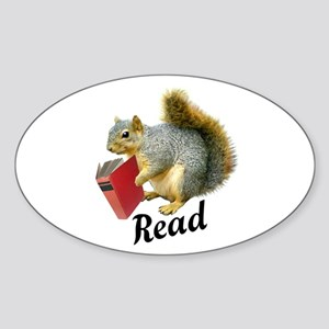 Squirrel Book Read Sticker