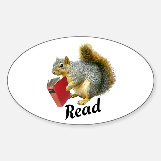 Squirrel Book Read Decal