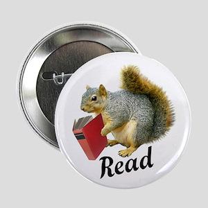 "Squirrel Book Read 2.25"" Button"