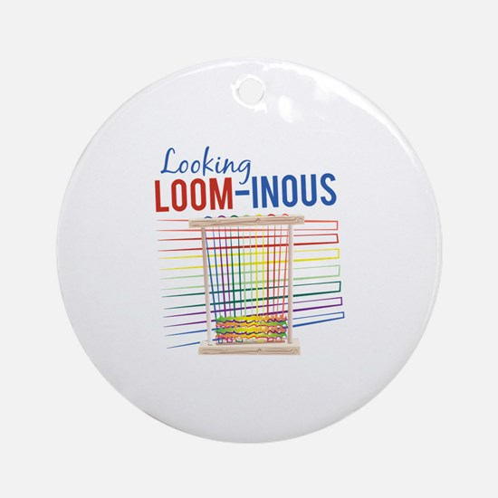Looking Loom-inous Ornament (Round)