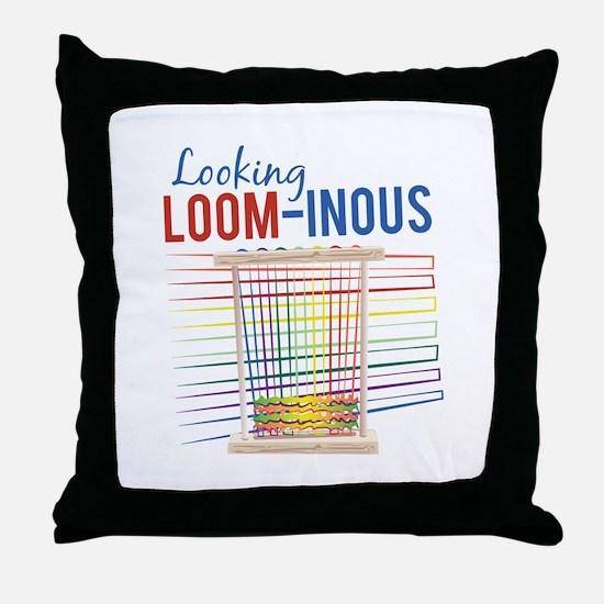Looking Loom-inous Throw Pillow