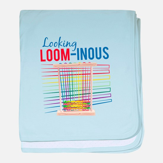 Looking Loom-inous baby blanket
