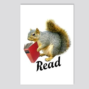 Squirrel Book Read Postcards (Package of 8)