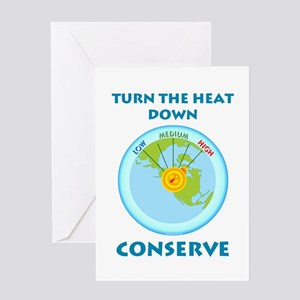 Earth's Heat Dial Greeting Card