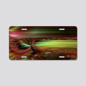 Fractal Smudge Aluminum License Plate