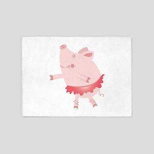 Ballet Pig 5'x7'Area Rug