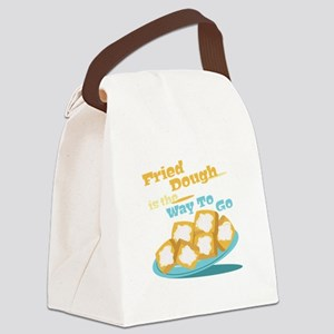 Fried Dough Canvas Lunch Bag