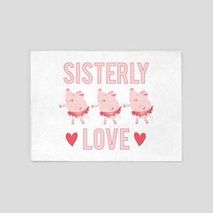Sisterly Love 5'x7'Area Rug
