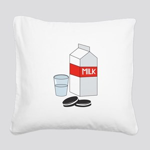 Milk & Cookies Square Canvas Pillow