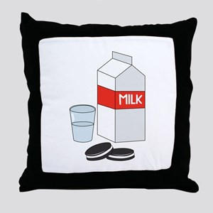 Milk & Cookies Throw Pillow