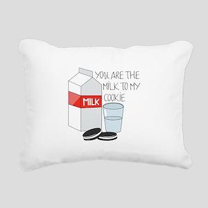 Milk To My Cookie Rectangular Canvas Pillow