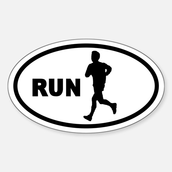 Runner Oval Decal