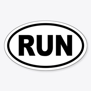 Basic Running Oval Sticker