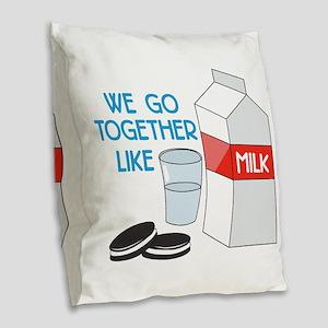 We Go Together Burlap Throw Pillow