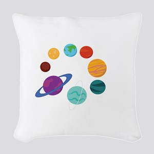 Solar System Woven Throw Pillow