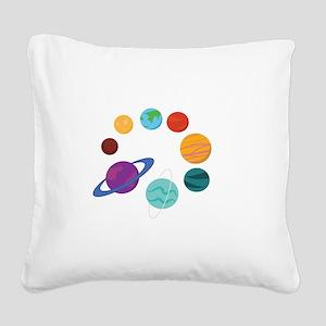 Solar System Square Canvas Pillow