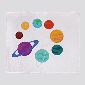 Solar System Throw Blanket