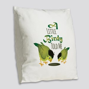 Little Birdy Burlap Throw Pillow
