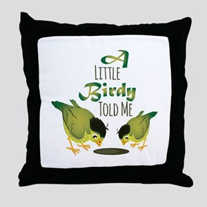 Little Birdy Throw Pillow