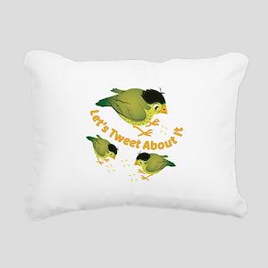 Tweet The Bird Rectangular Canvas Pillow