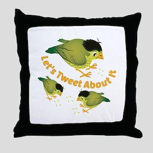 Tweet The Bird Throw Pillow