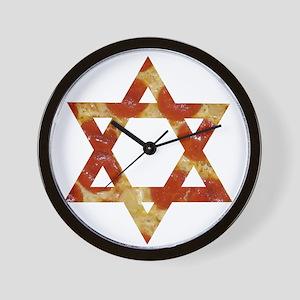 pizza star of david Wall Clock